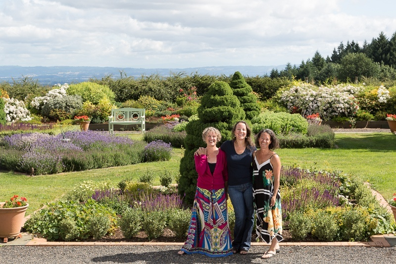 Three Feathers Estate & Vineyard owners Elise Prudhomme, Cynthia Sciarratta and Christine Stimac