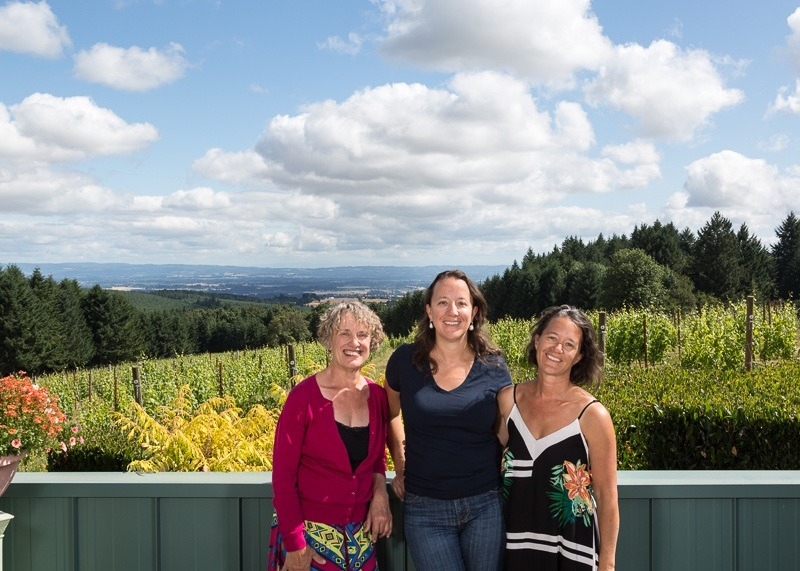 Elise Prudhomme, Cynthia Stimac and Christine Stimac are own