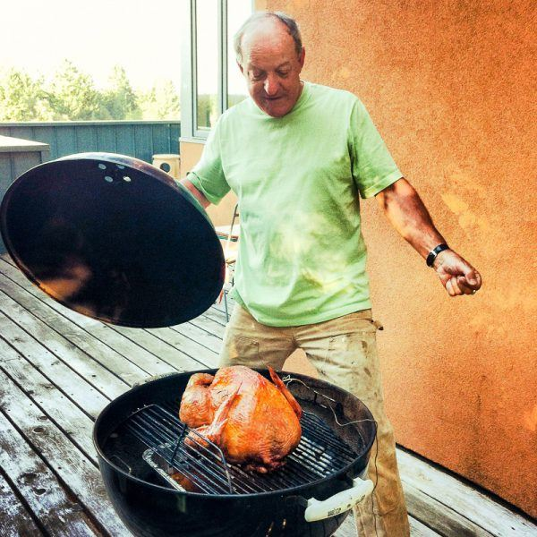 Smoked Turkey cooked on a Weber Kettle barbecue by Victor Stimac at Three Feathers Estate & Vineyard
