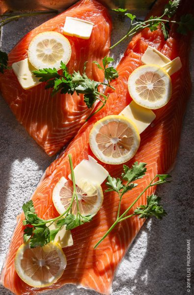 Simple Salmon recipe - pre-oven preparation