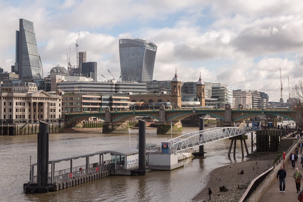 London Skyline and the River Thames, London, England, United Kin