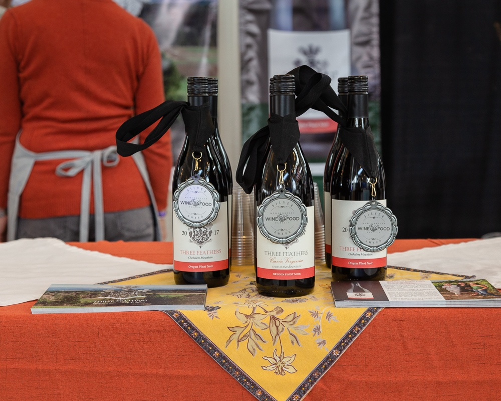 Silver medals on all three Three Feathers wines from the juried