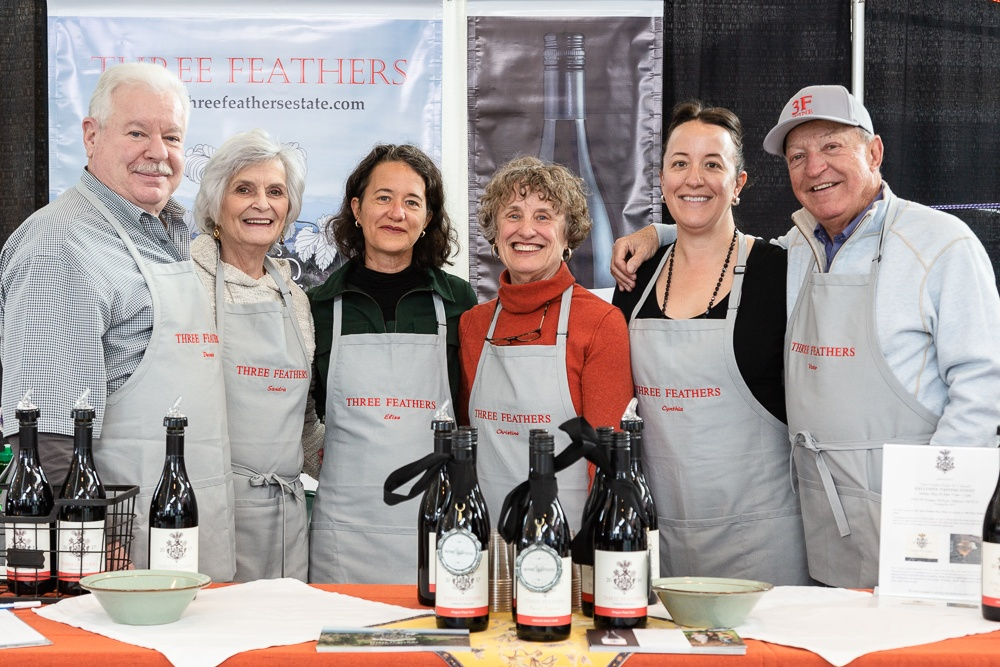 Three Feathers team portrait at McMinnville Wine & Food Classic
