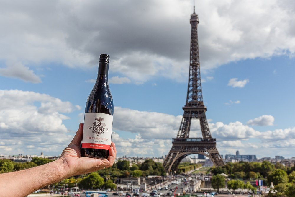 Three Feathers Oregon Pinot in Paris, France